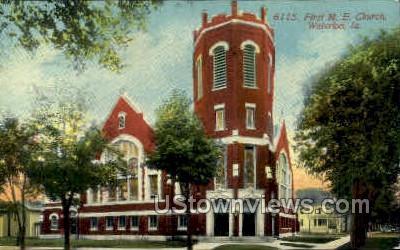 First Methodist Episcopal Church - Waterloo, Iowa IA Postcard