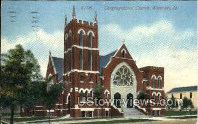 Congregational Church - Waterloo, Iowa IA Postcard