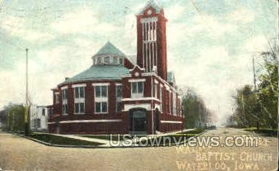 Walnut Street Baptist Church - Waterloo, Iowa IA Postcard
