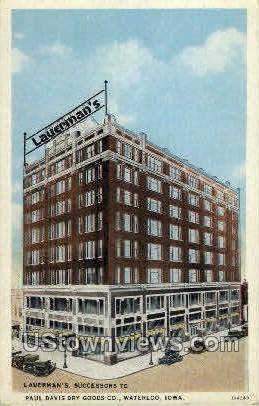 Paul Davis Dry Goods Co. - Waterloo, Iowa IA Postcard