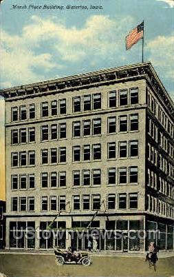 Marsh Place Building  - Waterloo, Iowa IA Postcard
