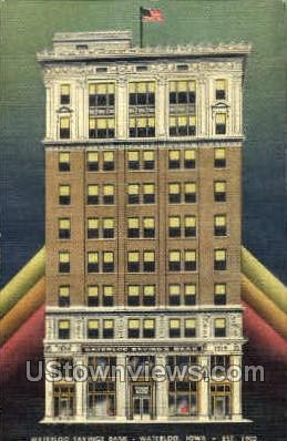 Waterloo Savings Bank - Iowa IA Postcard