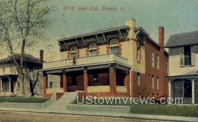 Elks Club - Creston, Iowa IA Postcard