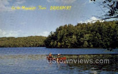 Municipal River - Davenport, Iowa IA Postcard