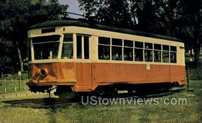 Street Car Number 381 - Cedar Falls, Iowa IA Postcard