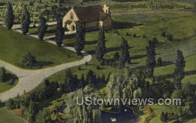 Clinton Memorial Park - Iowa IA Postcard