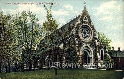 Episcopal Church - Davenport, Iowa IA Postcard