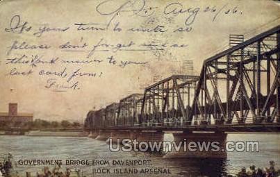 Government Bridge - Davenport, Iowa IA Postcard