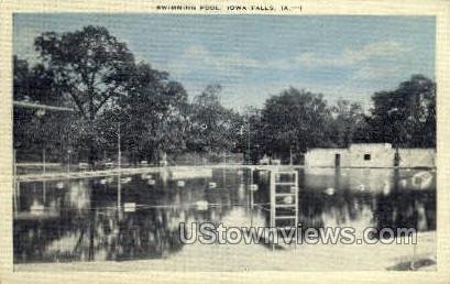 Swimming Pool - Iowa Falls Postcards, Iowa IA Postcard