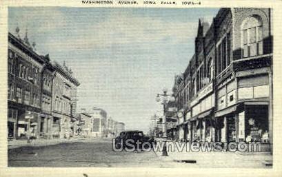 Washington Ave - Iowa Falls Postcards, Iowa IA Postcard