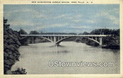 New Washington Ave Bridge - Iowa Falls Postcards, Iowa IA Postcard