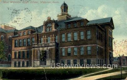 West Waterloo High School - Iowa IA Postcard