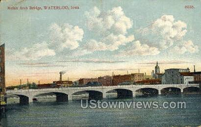 Melan Arch Bridge - Waterloo, Iowa IA Postcard