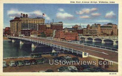 New Park Ave Bridge - Waterloo, Iowa IA Postcard