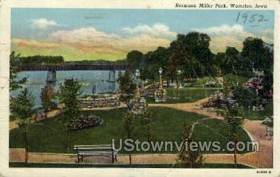 Hermann Miller Park - Waterloo, Iowa IA Postcard