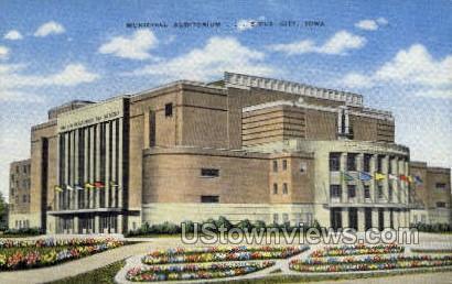 Municipal Aud - Sioux City, Iowa IA Postcard