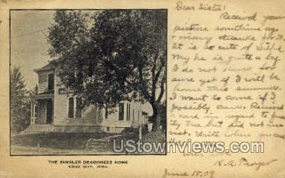 Shesler Deaconess Home - Sioux City, Iowa IA Postcard