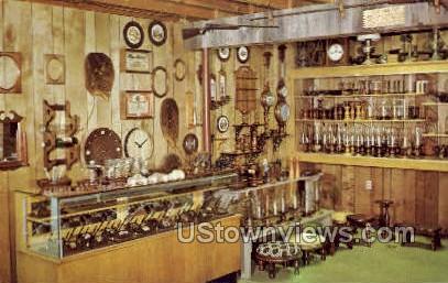 Berger's Woodwork Shop - Amana, Iowa IA Postcard