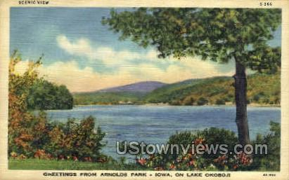 Arnolds Park - Lake Okoboji, Iowa IA Postcard