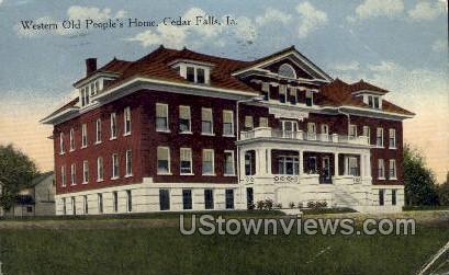 Western Old People's Home - Cedar Falls, Iowa IA Postcard