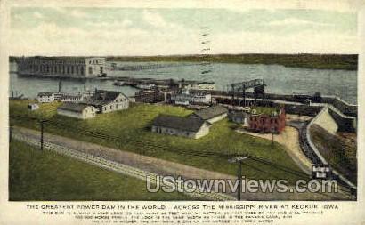 Greatest Power Dam - Keokuk, Iowa IA Postcard
