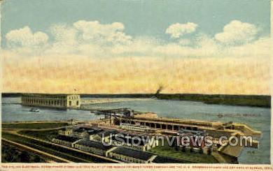 Electrical Horse Power Hydro Plant - Keokuk, Iowa IA Postcard