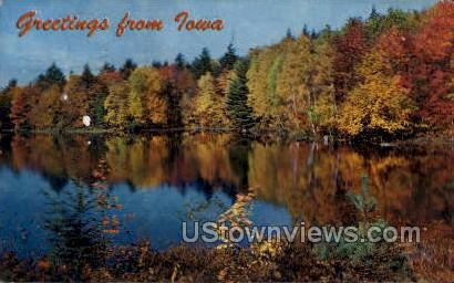 96 State Lakes - Misc, Iowa IA Postcard