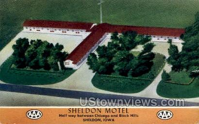 Sheldon Motel - Iowa IA Postcard