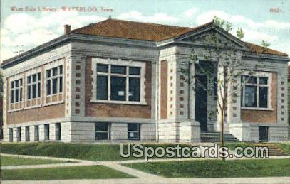 West Side Library - Waterloo, Iowa IA Postcard
