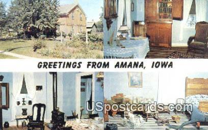 Amana Heim - Iowa IA Postcard