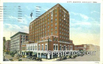 Hotel Warrior - Sioux City, Iowa IA Postcard