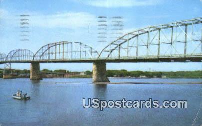 Lyons Fulton Bridge - Clinton, Iowa IA Postcard