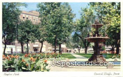 Bayliss Park - Council Bluffs, Iowa IA Postcard