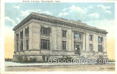 Public Library - Davenport, Iowa IA Postcard