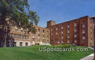 George T Baker Hall, State College of Iowa - Cedar Falls Postcard