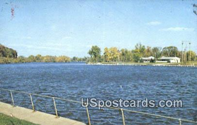 Cedar River, Falls - Waterloo, Iowa IA Postcard