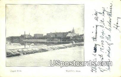 Upper Dam - Waterloo, Iowa IA Postcard