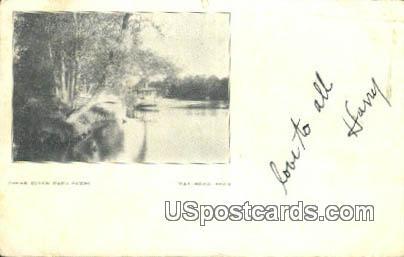 Cedar River Park - Waterloo, Iowa IA Postcard