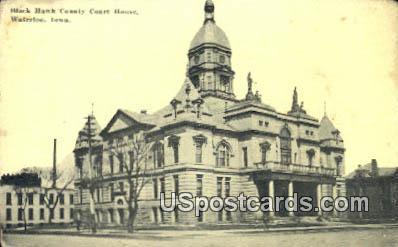Black Hawk County Court House - Waterloo, Iowa IA Postcard