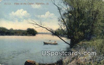 Cedar - Waterloo, Iowa IA Postcard