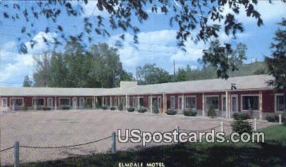 Elmdale Motel - Sioux City, Iowa IA Postcard