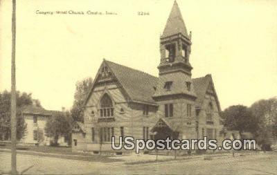 Congregational Church - Creston, Iowa IA Postcard