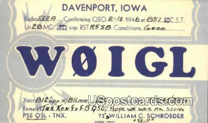 Davenport, IA Postcard      ;      Davenport, Iowa