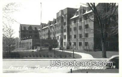 Real Photo - Friley Hall, Iowa State College - Ames Postcard