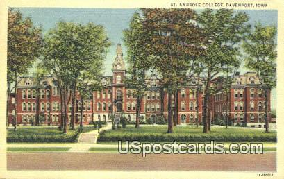 St Ambrose College - Davenport, Iowa IA Postcard
