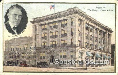 Home of the Capper Publications - Misc, Iowa IA Postcard