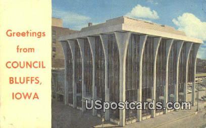 First Federal Savings & Loan Building - Council Bluffs, Iowa IA Postcard
