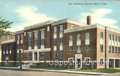 City Building - Council Bluffs, Iowa IA Postcard