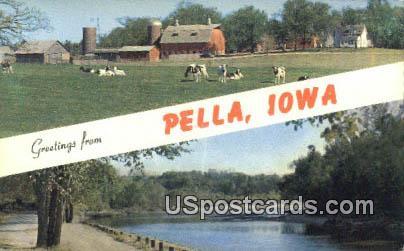 Pella, IA Postcard      ;      Pella, Iowa