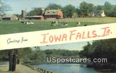 Greetings from - Iowa Falls Postcards, Iowa IA Postcard